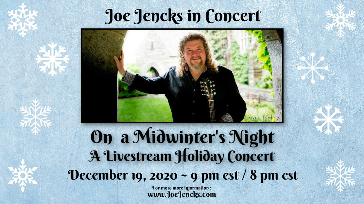 Joe Jencks nbspOn A Midwinter039s Night nbspHoliday Concert LiveStream