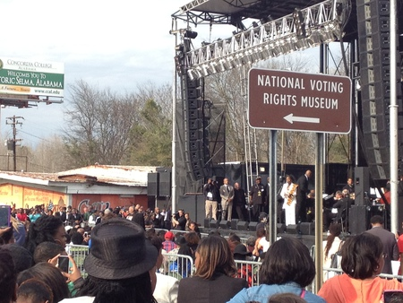 A concert in Selma - on the other side of the bridge