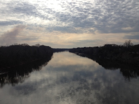 A Serene Moment  Looking off the bridge to the West in Selma