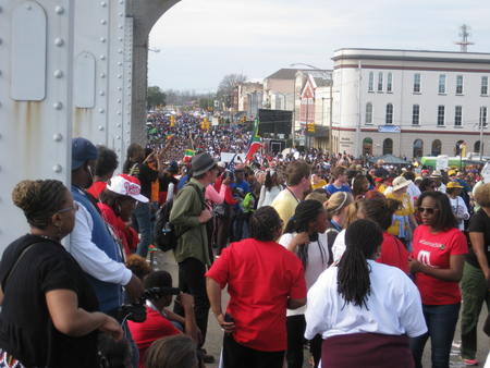 On the bridge  looking back at Selma